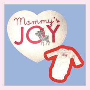 4for$10 NB🆕Onesie Mommy's Joy Silver Deer